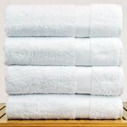 Bare Cotton Bath Towel (Set of 4); White