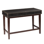 Wildon Home   Reiner Faux Leather Writing Desk in Black