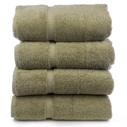 Bare Cotton Luxury Hotel and Spa Towel 100pct Turkish Cotton Bath Towel (Set of 4); Drift Wood