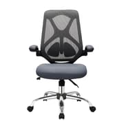 Fr sch High-Back Mesh Task Chair; Black/Dark Gray