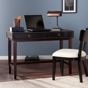 Wildon Home   Writing Desk with Faux Leather