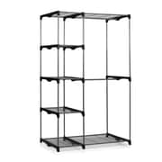 Furinno Wayar 19'' D Double Rod Five Shelve Freestanding Closet; Gray