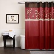 Lush Decor Cocoa Flower Shower Curtain