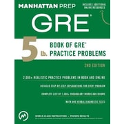 5 lb. Book of GRE Practice Problems, 0002, Paperback (9781941234518)