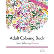 Adult Coloring Book Stress Relieving Patterns, Paperback (9781941325124)