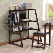 InRoom Designs Bristol Study Leaning Desk with Hutch
