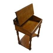 International Caravan Windsor Hand Carved Small Wood Writing Desk