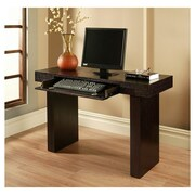 Abbyson Living Parker Computer Desk with Fold Down Keyboard Tray; Espresso