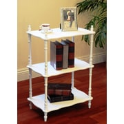 Mega Home 30'' Etagere Bookcase; White