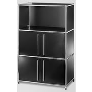 Infinita Corporation System4 Simpli 48'' Standard Bookcase; Black