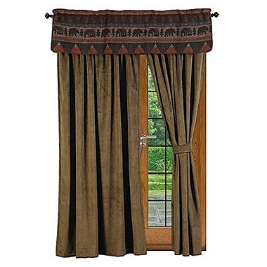 Wooded River Cabin Bear Curtain Panels (Set of 2)
