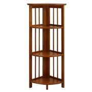Casual Home Folding 38'' Corner Unit; Honey Oak