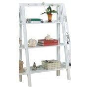InRoom Designs 43'' Leaning Bookcase; White