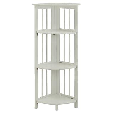 Casual Home Folding 38'' Corner Unit; White