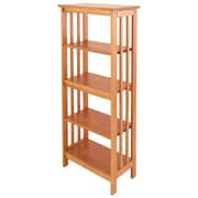 Manchester Wood Mission 54'' Etagere Bookcase; Golden Oak