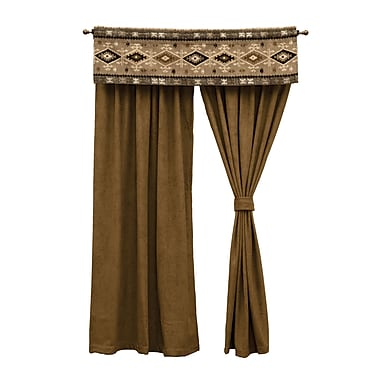 Wooded River Mountain Storm 52'' Curtain Valance
