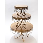 Opulent Treasures 3 Piece Loopy Chandelier Cake Plate Stand Set; White