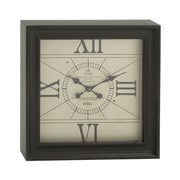 Cole & Grey Metal Square Wall Clock
