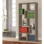 Wildon Home   70'' Cube Unit Bookcase; Dark Grey