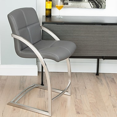 Matrix 24'' Bar Stool; Gray