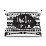 KESS InHouse Hakuna Matata Pillow Case; King