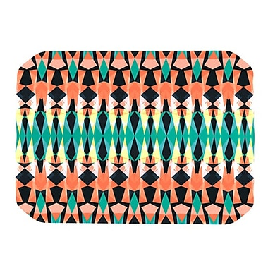 KESS InHouse Triangle Visions Placemat; Orange/Blue