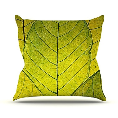 KESS InHouse Every Leaf a Flower Throw Pillow; 26'' H x 26'' W