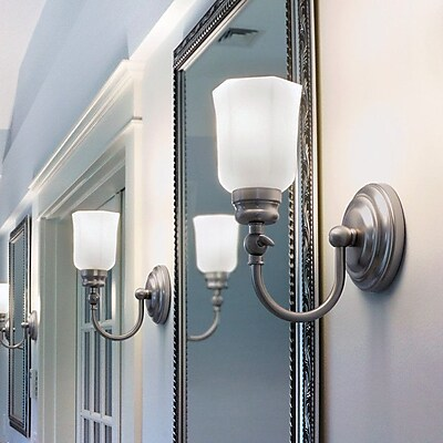 Norwell Lighting Emily 1 Light Wall Sconce; Brushed Nickel WYF078278579128