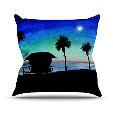 KESS InHouse Carlsbad State Beach Throw Pillow; 18'' H x 18'' W