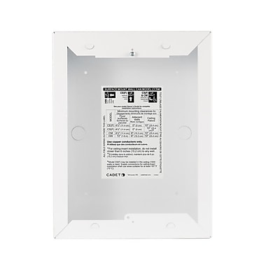 Cadet Com-Pak Surface Mount Wall Can; White
