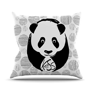 KESS InHouse Panda Throw Pillow; 18'' H x 18'' W x 4.1'' D