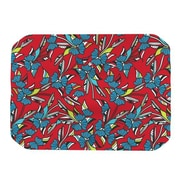 KESS InHouse Paper Leaf Placemat; Red