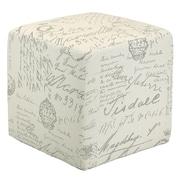 Cortesi Home Braque Script Cube Ottoman