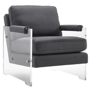 TOV Serena Floating Lucite Arm Chair
