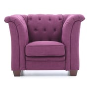 Glory Furniture Bedminster Tufted Chair; Purple