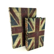 KMPG 2 Piece British Flag Faux Leather Book Box Set