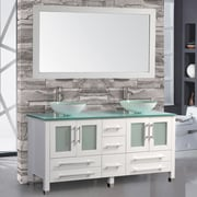 MTDVanities Cuba 71'' Double Bathroom Vanity Set with Mirror