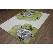 Rug Factory Plus Transition Hand-Tufted White Area Rug