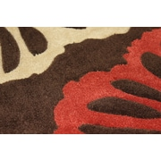 Rug Factory Plus Transition Hand-Tufted Brown Area Rug