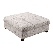 Emerald Home Furnishings Antoinette Square Cocktail Ottoman