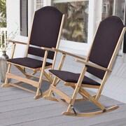 Wildon Home   Cedar Creek Solid Wood Folding Rocking Chairs (Set of 2); Natural