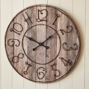 ParkDesignsSplitP Oversized 35'' Wood Key Numbers Wall Clock