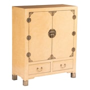 EXP D cor Eden Home Nishi Storage Cabinet; Marbled Cream