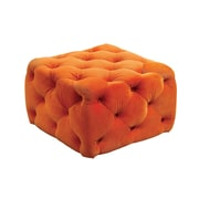 A&J Homes Studio Deep Button Tufting Ottoman; Orange