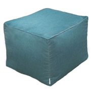 Core Covers Sunbrella Outdoor/Indoor Pouf Ottoman; Teal