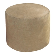 Core Covers Sunbrella Outdoor/Indoor Round Pouf Ottoman; Sailcloth Space