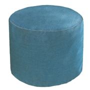 Core Covers Sunbrella Outdoor/Indoor Round Pouf Ottoman; Cast Lagoon