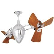 Matthews Fan Company 48'' Ar Ruthiane 3 Wooden Blade Rotational Ceiling Fan; Black