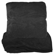 Natico Zip Up Fleece Throw Blanket; Black