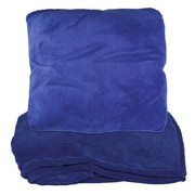 Natico Zip Up Fleece Throw Blanket; Blue